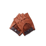 Mitones de conducir marrones Cafe Leather Roasted
