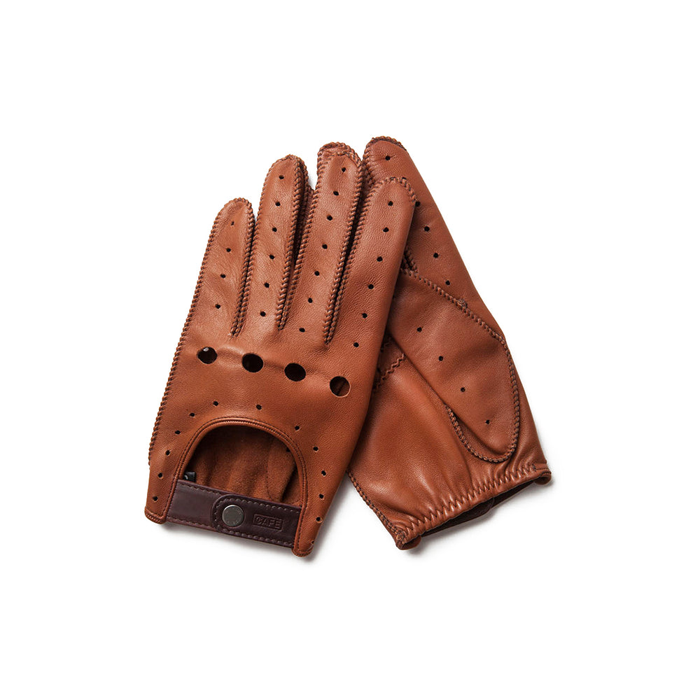 Guantes de conducir marrones Cafe Leather Triton Roasted