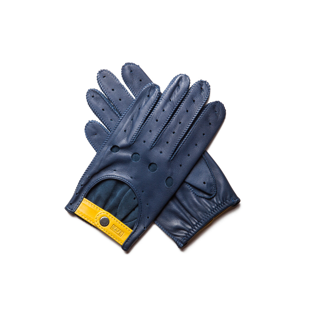 Guantes de conducir azules Cafe Leather Triton Marlin