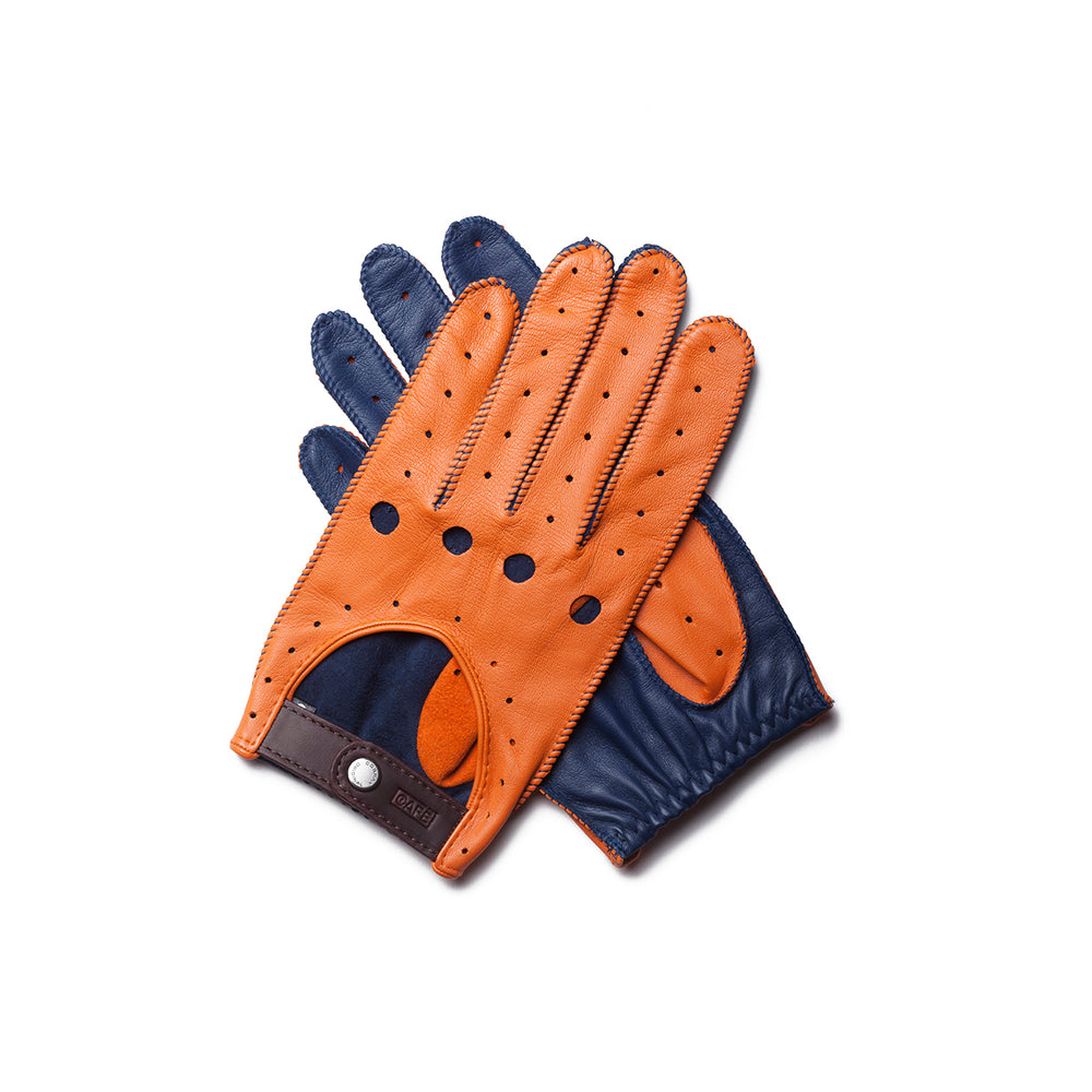 Guantes de conducir naranjas Cafe Leather Triton Kingfisher