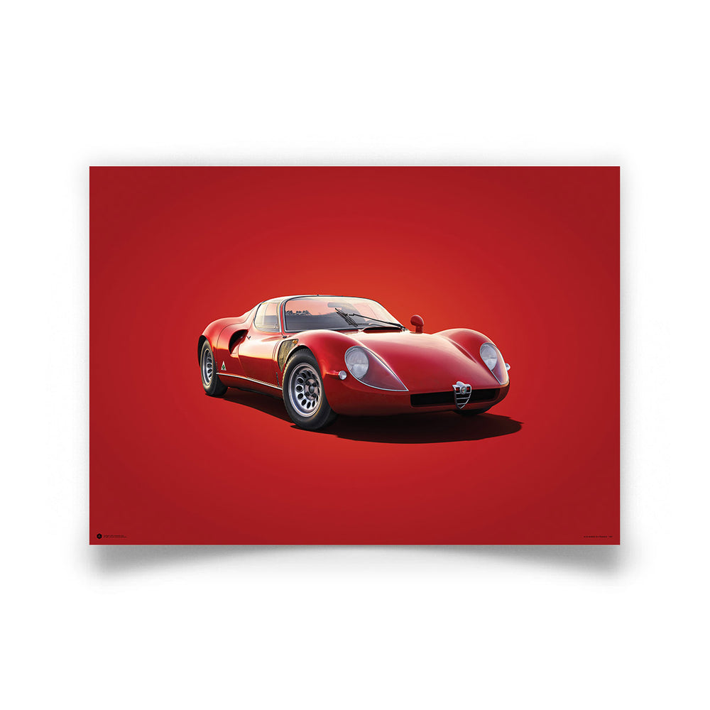 Alfa Romeo 33 Stradale - Red - 1967 - Colors of Speed Poster