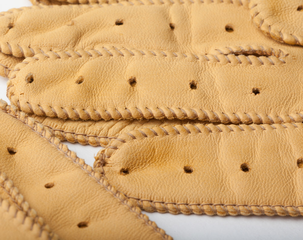 Guantes de conducir amarillos Cafe Leather Triton Cream
