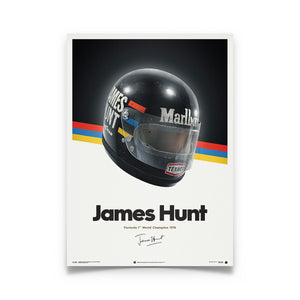 James Hunt - Helmet - 1976 - Poster