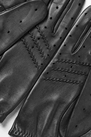 Load image into Gallery viewer, Guantes de conducir negros Cafe Leather Triton All Black