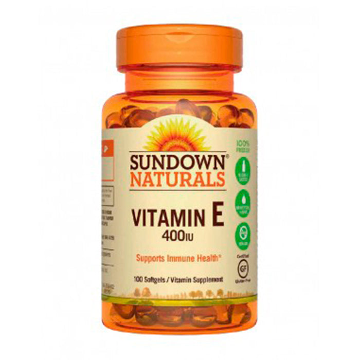 Sundown Naturals VIT E400 DL ALPHA 100 CAPS
