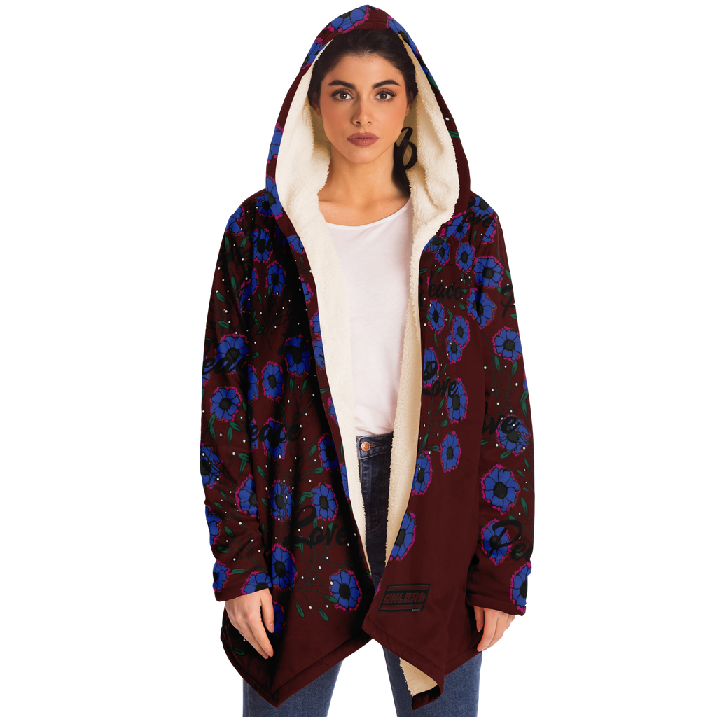 Peace and Love Cloak Burgundy