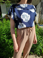 FLORAL LINEN BLOUSE 1072 - Sylvie and Shimmy