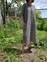 OVERSIZED GINGHAM DRESS 1023 - Sylvie and Shimmy