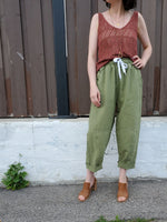 DRAWSTRING TAPERED PANTS 1030