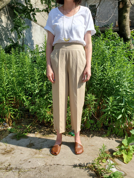 CROPPED WIDE LEG PANTS 1038 - Sylvie and Shimmy