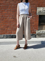 LINEN BLEND CROPPED PANTS 1041 - Sylvie and Shimmy