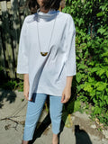 OVERSIZED TURTLENECK T SHIRT 3505 - Sylvie and Shimmy