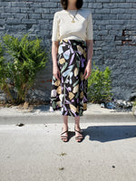 FLORAL PRINT MIDI SKIRT 3001 - Sylvie and Shimmy