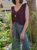 CROPPED KNIT TANK TOP/VEST 3300 - Sylvie and Shimmy