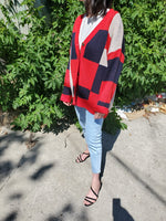 COLOUR BLOCK CARDIGAN 3501 - Sylvie and Shimmy