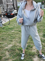 HOODIE SWEAT JUMPSUIT 3801 - Sylvie and Shimmy