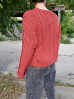 CREW NECK CABLE SWEATER 3014 - Sylvie and Shimmy