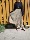 LEOPARD PLEATED SKIRT 3006 - Sylvie and Shimmy