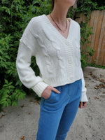 CROPPED CABLE CARDIGAN 3510 - Sylvie and Shimmy