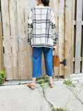 OVERSIZED PLAID CARDIGAN 3511 - Sylvie and Shimmy