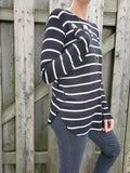 SOFT STRIPED LONG SLEEVE TEE 3535 - Sylvie and Shimmy