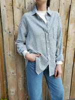 STRIPED BOYFRIEND SHIRT 3031