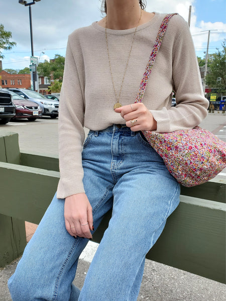 CREW NECK KNIT TOP 3006