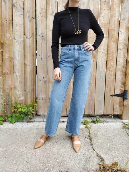 HIGH WAISTED WIDE LEG JEANS 3711 - Sylvie and Shimmy