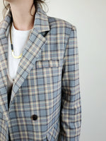 DOUBLE BREASTED PLAID BLAZER 3006 - Sylvie and Shimmy
