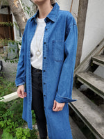 BUTTON UP LONG DENIM SHIRT 3034 - Sylvie and Shimmy
