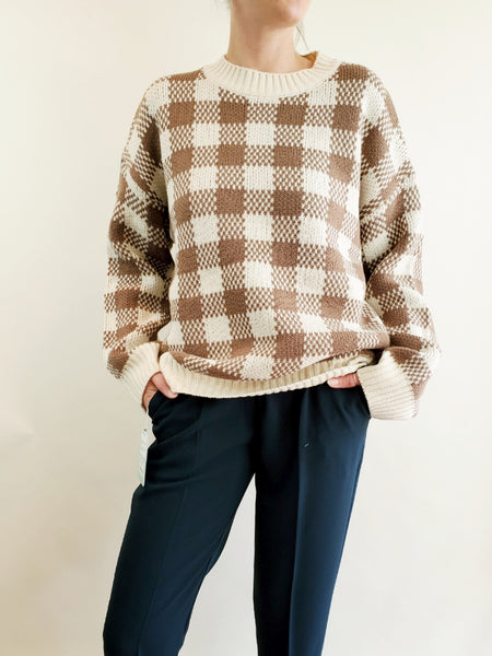 OVERSIZED PLAID SWEATER 3012 - Sylvie and Shimmy