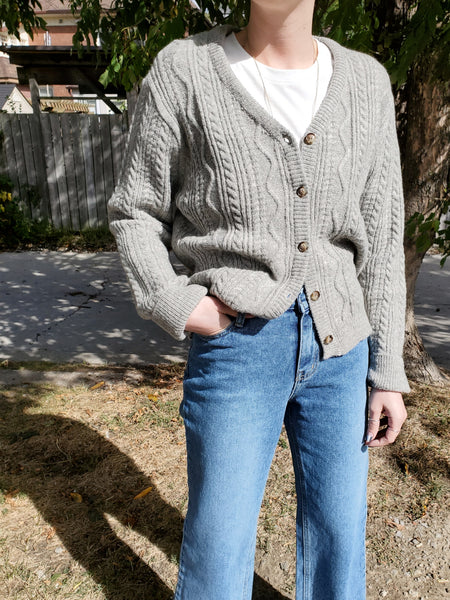 CABLE BUTTON DOWN CARDIGAN 3520 - Sylvie and Shimmy