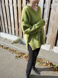 V NECK OVERSIZED SWEATER 3019 - Sylvie and Shimmy