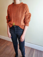 CROPPED CABLE SWEATER 3026 - Sylvie and Shimmy