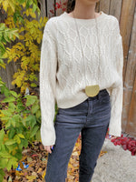 CREW NECK CABLE SWEATER 3022 - Sylvie and Shimmy