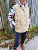 OVERSIZED QUILTED VEST 3009 - Sylvie and Shimmy
