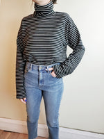 STRIPED TURTLENECK TOP 3044 - Sylvie and Shimmy