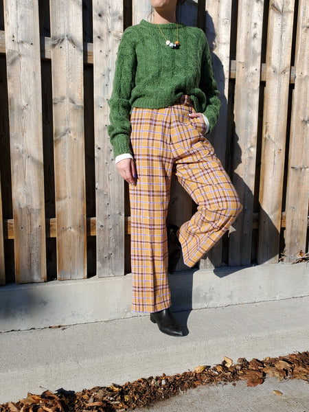 PLAID WIDE LEG PANTS 3014 - Sylvie and Shimmy