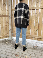OVERSIZED PLAID CARDIGAN 3526