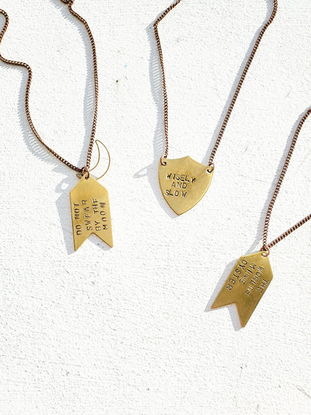 STAMPED NECKLACE TB410 - Sylvie and Shimmy