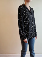POLK DOT BUTTON DOWN BLOUSE 3062 - Sylvie and Shimmy