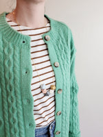 CABLE BUTTON UP CARDIGAN 3533 - Sylvie and Shimmy