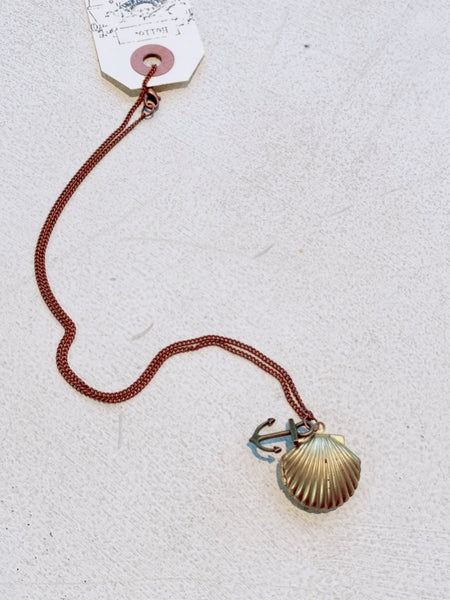 SEASHELL LOCKET TB313 - Sylvie and Shimmy