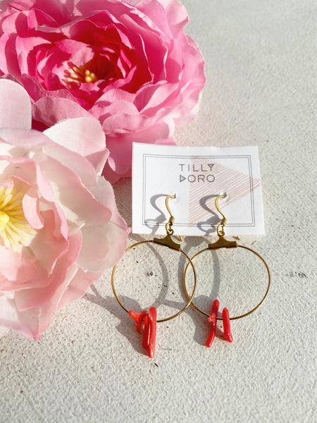 CORAL HOOPS TD028 - Sylvie and Shimmy