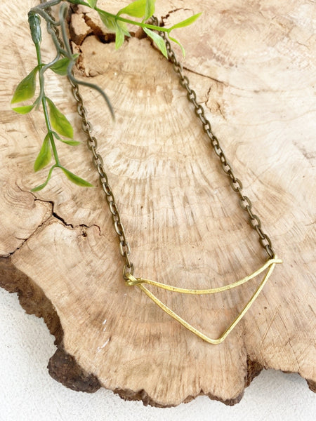 BRASS ARC NECKLACE BD322 - Sylvie and Shimmy