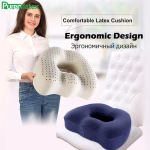 Coccyx Seat Cushion Made Of Natural Latex Foam - Sciatica Back Tailbone Pain Relief - Inspired Gadgetz