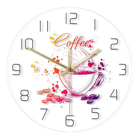 Horloge Murale </br> LED Coffee