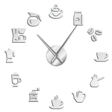 Horloge Stickers Coffee Machine | Horloge Mania