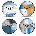 horloge murale scandinave peinture differents modeles