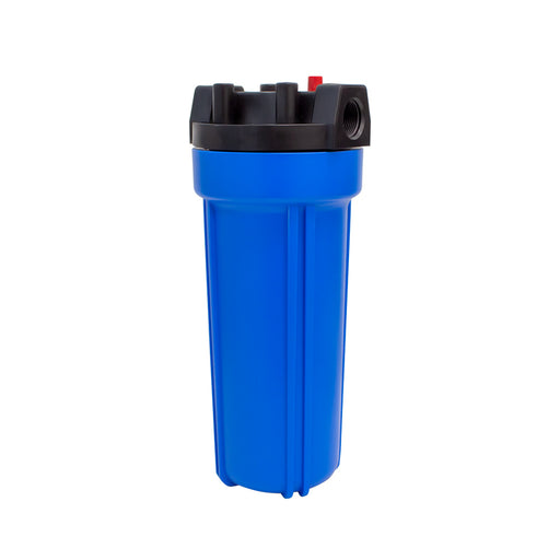 "BetterAqua Filter Housing 10"" X 2.5"" with Connection Port 3/4"" FNPT Blue Color With Pressure Cap, BA-FH1025-BLU34"